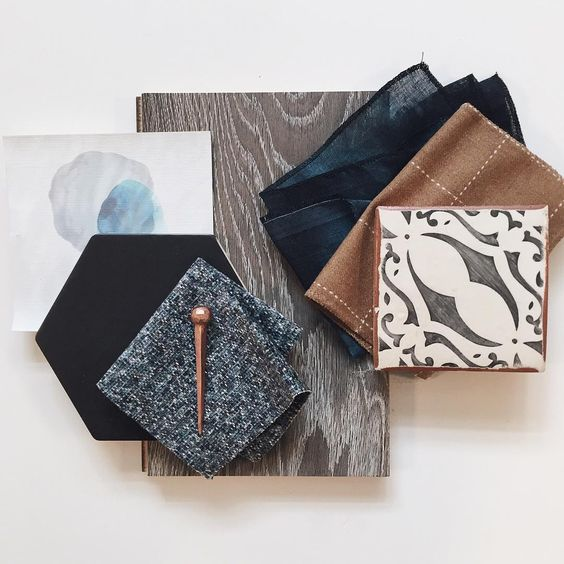 Office interior design ideas - nyla free designs via instagram - office design - interior design materials palette - interior textiles -interior finishes - interior design schemes