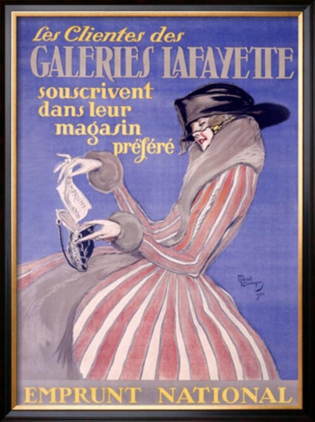 Posters Koket : Boulevard Haussmann Ici, la mode vit plus fort Boulevard Haussmann