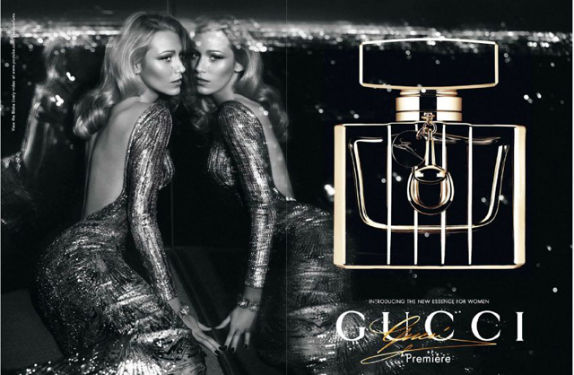 Gucci Première Fragrance poster with Blake Lively