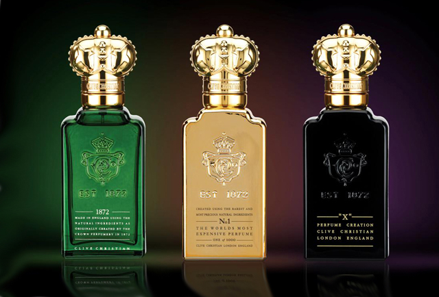 Clive Christian gorgeous bottles of perfume