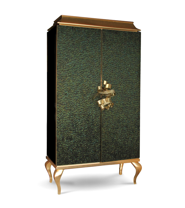 Divine armoire with peacock feathers by KOKET - Love Happens