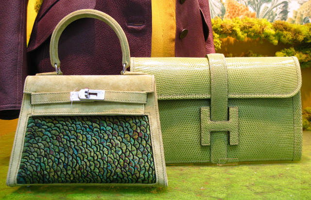 Peacock's bag by Hermès