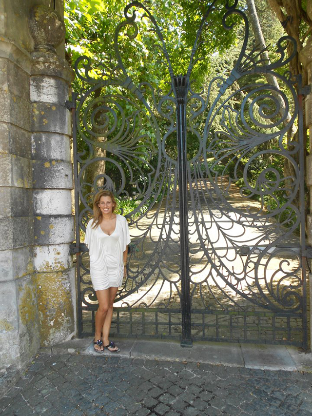 Janet Morais in Sintra Portugal with the gate that inspired Mademoiselle  Mademoiselle Armoire, why is it so special? 312105 276504515721635 48889399 n