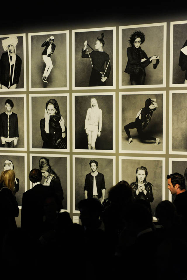 Chanel Photo Exhibition in an art gallery, the photos