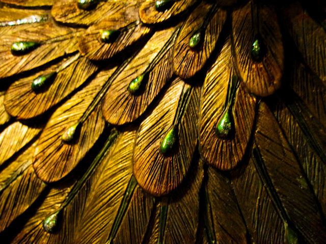 KOKET CLUB DELUX  KOKET & THE GLOBAL FUND FOR WIDOWS Gold Peacock Macro by SolarCroissant