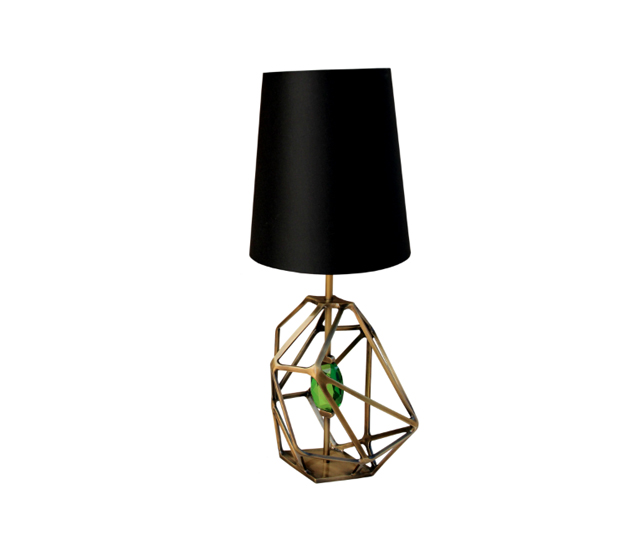 Gem Table Lamp, by KOKET Emerald Green, PANTONE's color of the year Emerald Green, PANTONE's color of the year gem