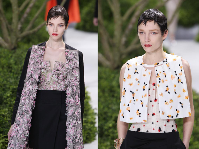 Christian Dior Couture Spring 2013 - flower motifs Christian Dior, Spring 2013 Christian Dior, Spring 2013 7