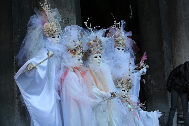 Venice Carnival - Masked group