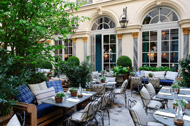 Luxury hotel furniture - Ralph S By Ralph Lauren Sunny Terrace St Germain 2 Courtyard 1 2