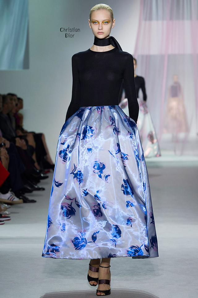 Christian Dior Couture Spring 2013 - blue and black dress