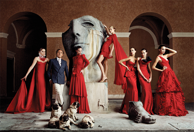 Red dresses by Valentino