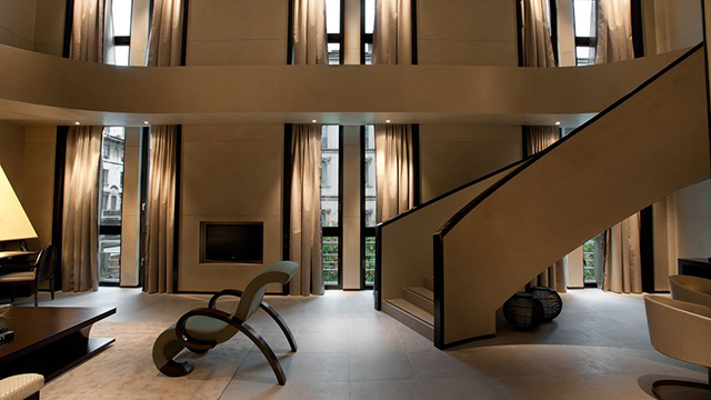 Design, comfort and elegance at Armani Hotel Milano lobby.  Armani Hotel Milano – Luxury Hotels iSaloni 2013 Armani Hotel Milano lobby