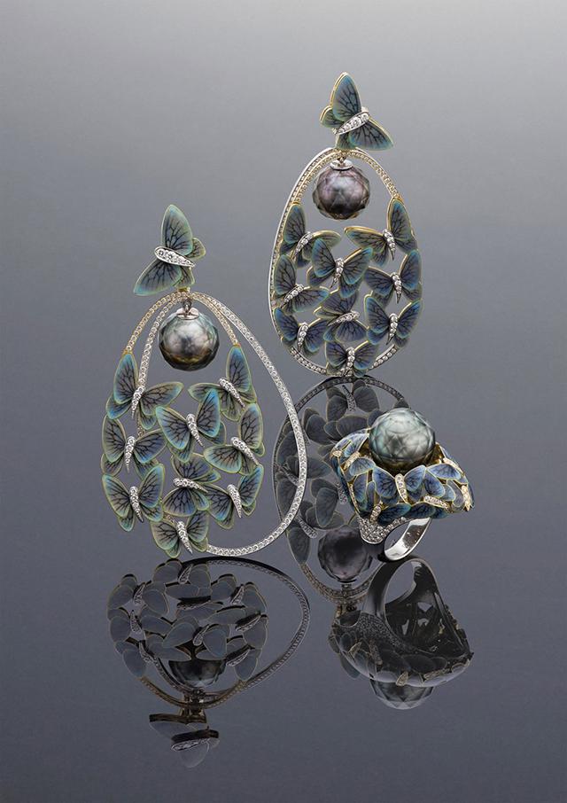 Earrings and ring Butterflies by Ilgiz Fazulzyanov