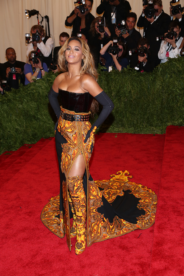 Punk fashion at met gala 2013: Beyonce chairman of Met Gala in Givenchy.