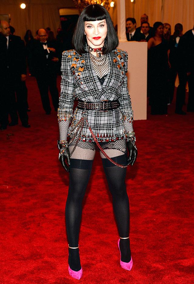 Punk fashion at met gala 2013: Madonna.