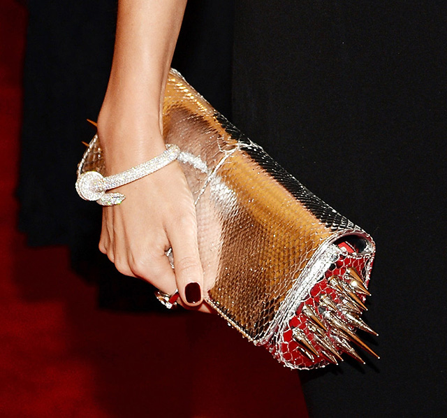 Punk fashion at met gala 2013: Miranda Kerr with Cartier punk accessories.