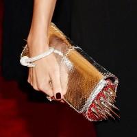 Punk fashion at met gala 2013: Miranda Kerr with Cartier punk accessories.