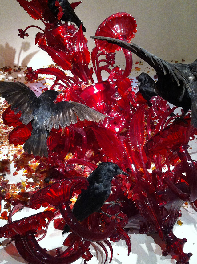 Carrona by Javier Perez at Fragile - Murano exhibition in Musee Maillol, Paris.