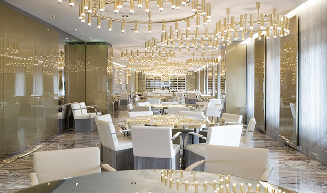 Restaurant Gold by D&G in Milan, Italy.