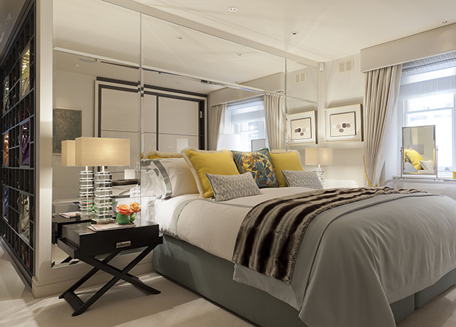 Karen Howes private bedroom at her residence in Mayfair, London. | Special Interview with Karen Howes Special Interview with Karen Howes Special Interview with Karen Howes karen howes home mayfair london by taylor howes bedroom