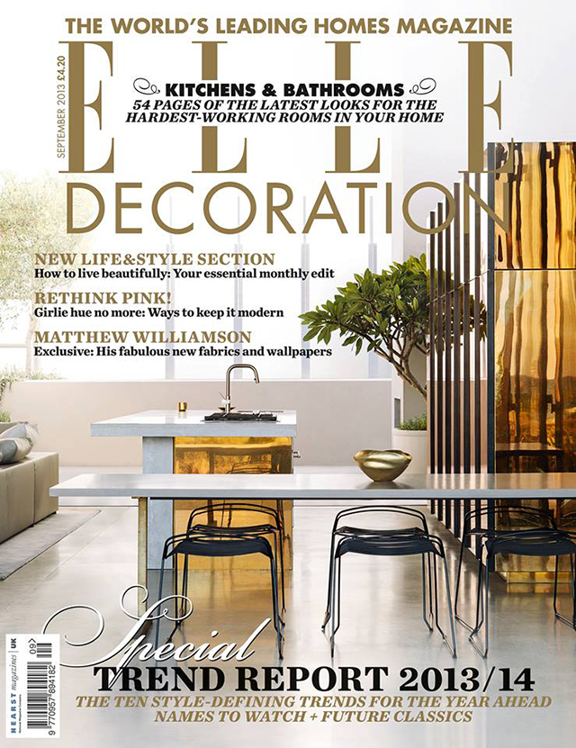 Elle decoration uk magazine cover september trend report for Best home decor uk