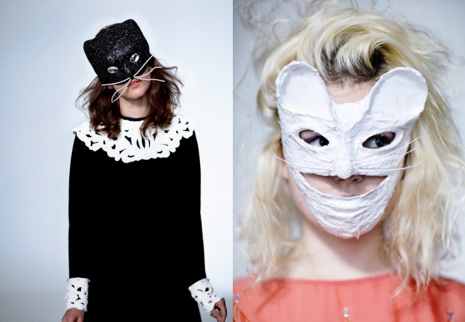 Benoit Missolin and Kamo Halloween masks
