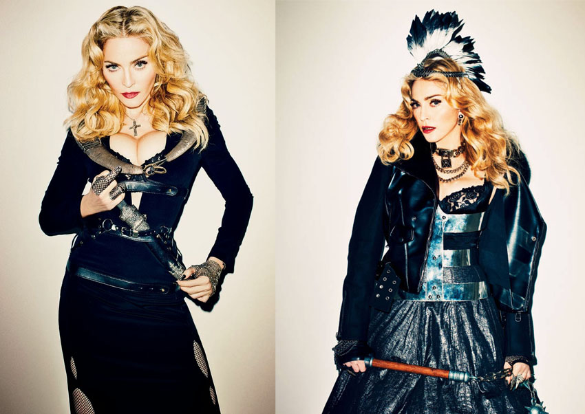 Harpers Bazaar cover: Madonna dresses to Dare