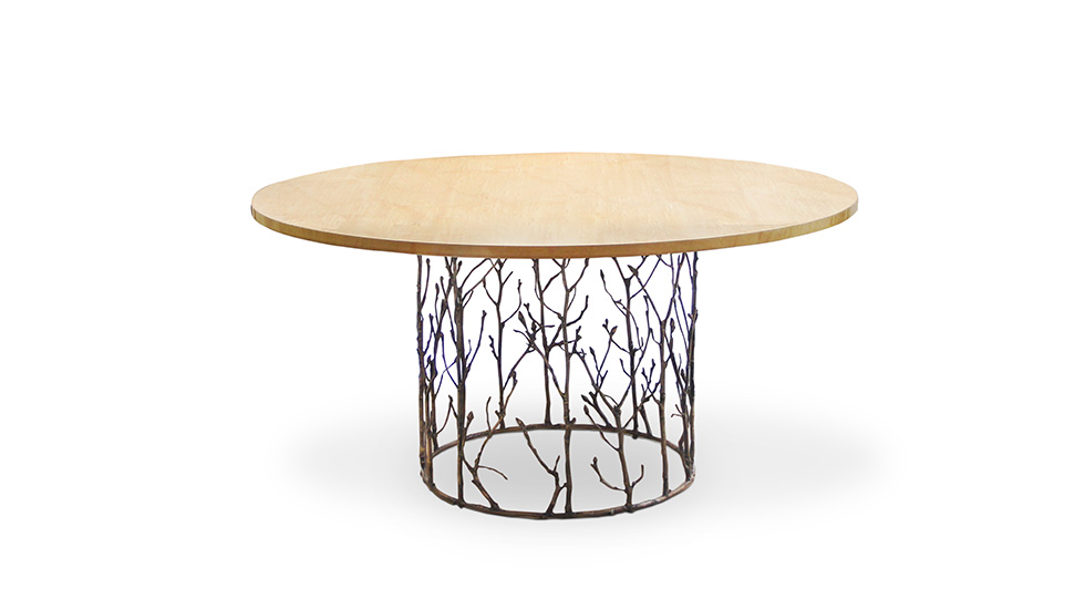 Our artisans have masterfully captured the alluring essence of an enchanted forest with this table.