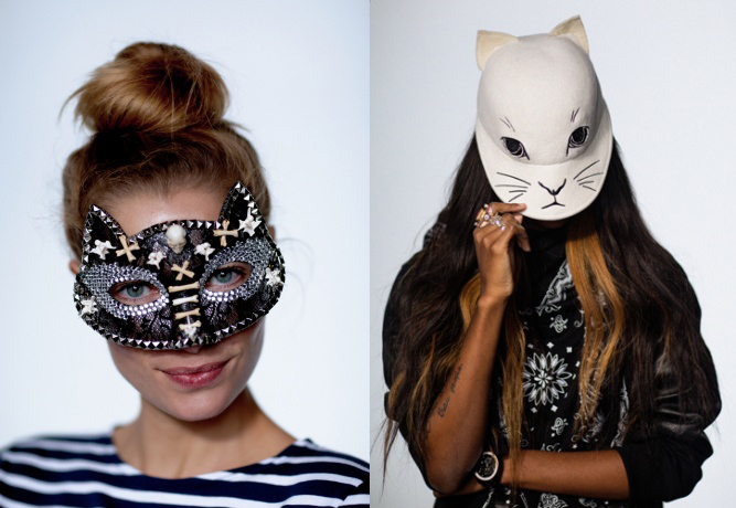 Langley Fox Hemingway and Opening Ceremony Halloween masks