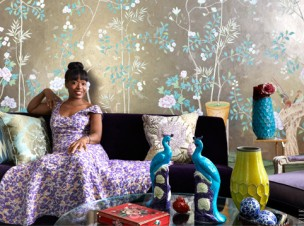 Tracy Reese New York apartment living room