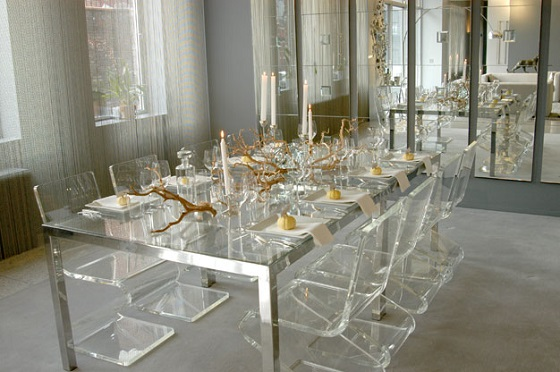 EVOKE lucite thanksgiving table New Pinterest Board: Thanksgiving Decor Ideas