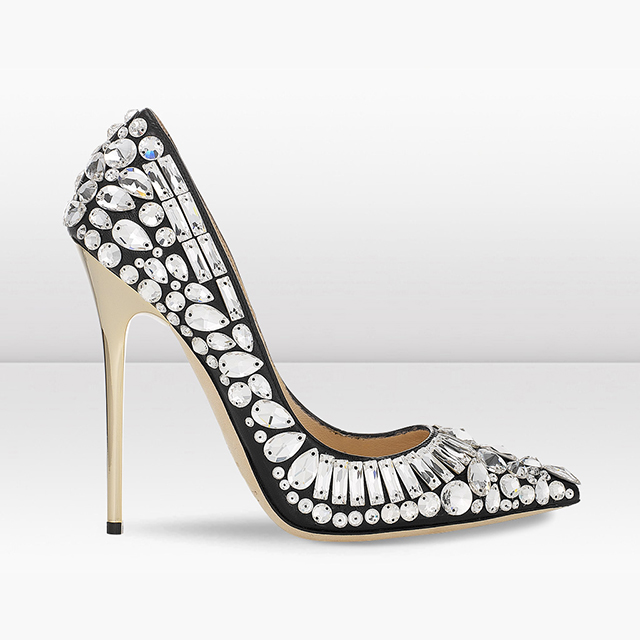 black nappa and crystal pointy toe pumps1 Holiday Gift Guide: Black Friday High End Edition