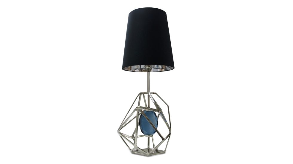 As a tribute to a diamond's devastating power of enticement we have created this stunning lamp to represent the journey of the gem's rough beginnings to exquisite end.