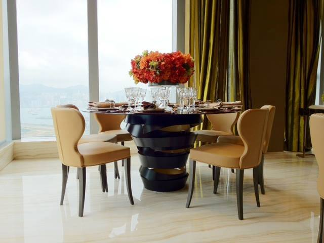 intuition dining table by koket The secret to design amazing hotel interiors