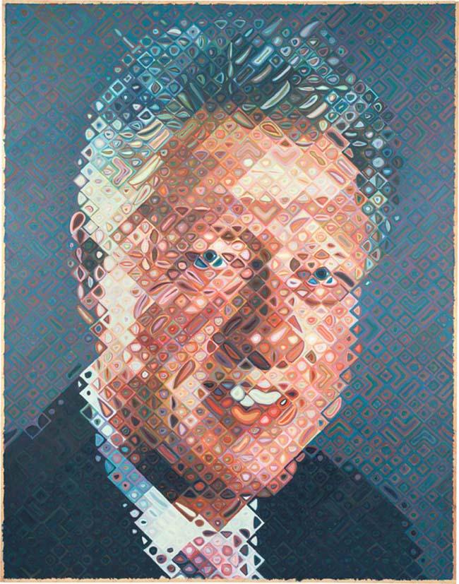Bill Clinton paint by Chuck Close
