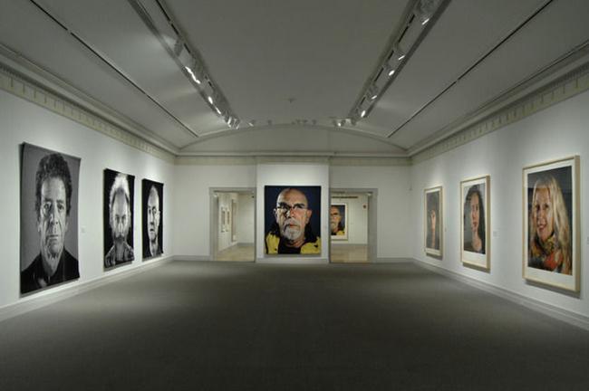 Chuck Close instalation view of recent work