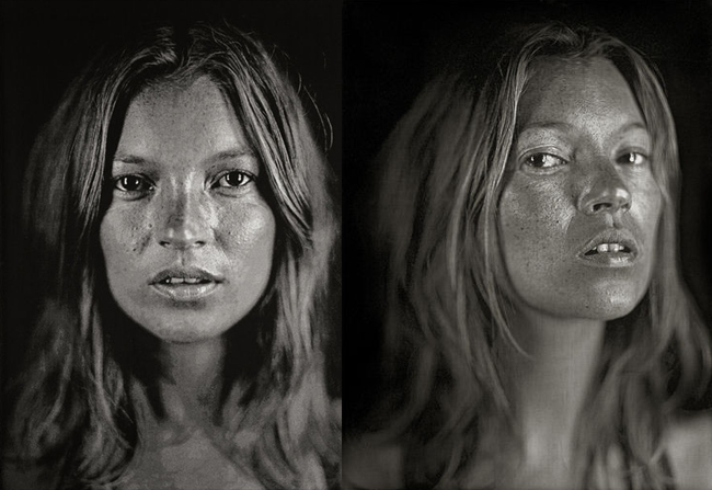 Kate Moss by Chuck Close 2006
