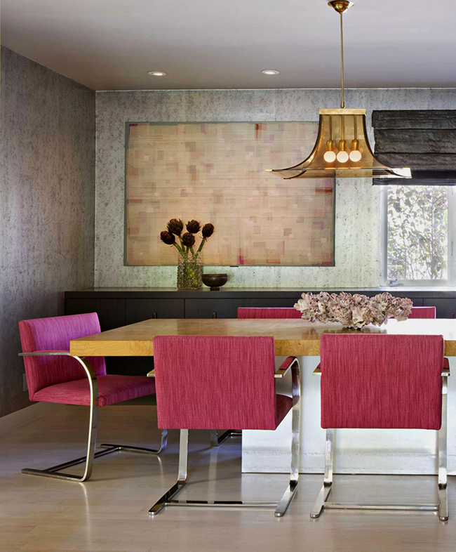 Spring Fashion At Home By Elle Decor Pop Of Pink For Your Dining Room