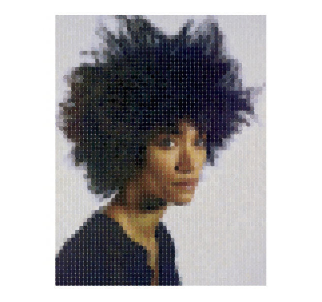 Sienna 2013 watercolor pigment print by Chuck Close