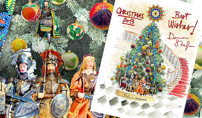 dolce and gabbana design the claridges christmas tree