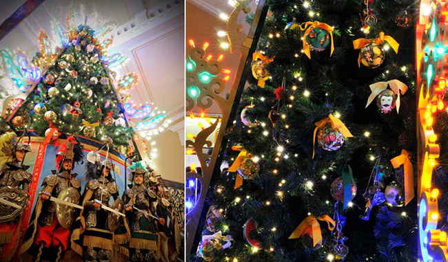 dolce gabbana christmas tree claridge details