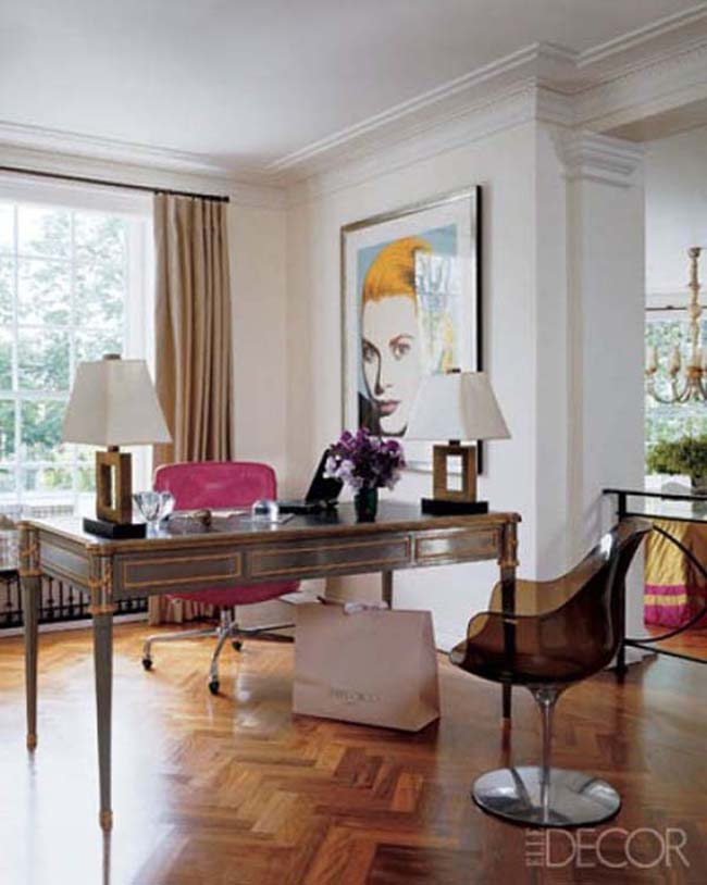 Interior With Pink Accent By Elle Decor Love Happens Blog