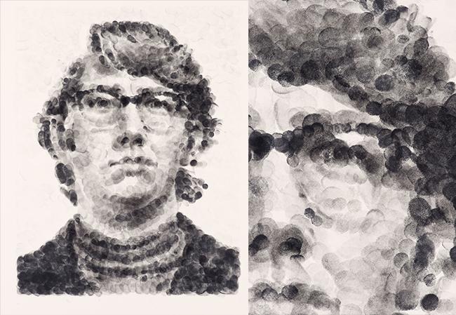 keith random fingerprint by Chuck Close