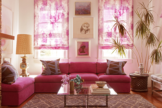 Spring Fashion At Home By Elle Decor Pop Of Pink
