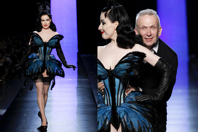 Dita Von Teese Jean Paul Gaultier show 2014 Paris