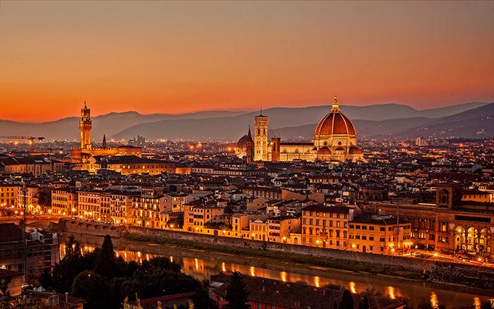 Florence night Italy romantic cities