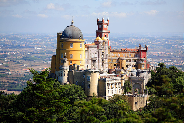 The Most Romantic cities in the World for Valentine's Day Lisbon Sintra palace Portugal romantic cities