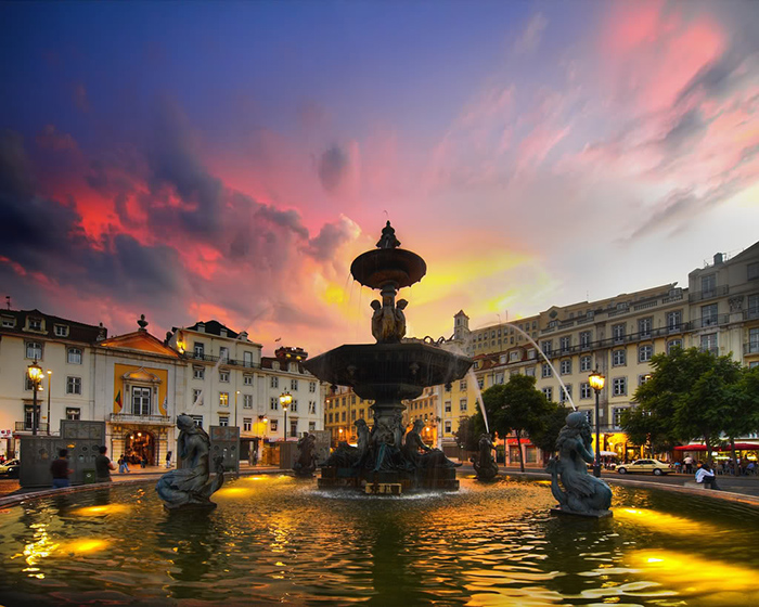 The Most Romantic cities in the World for Valentine's Day Rossio Lisbon Portugal romantic cities