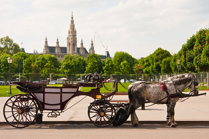 The Most Romantic cities in the World for Valentine's Day Vienna horse carriage Austria romantic cities