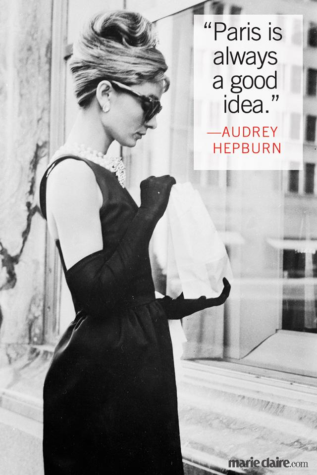 Audrey Hepburn Quotes About Paris